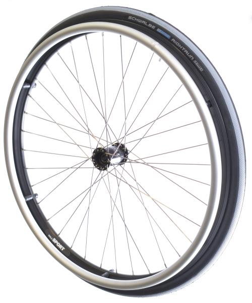 Sport-Laufrad black elox Komplettsatz 24x1