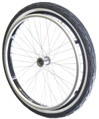 Mountain-Wheel Whitewall Tire Complete Set 24x1,9